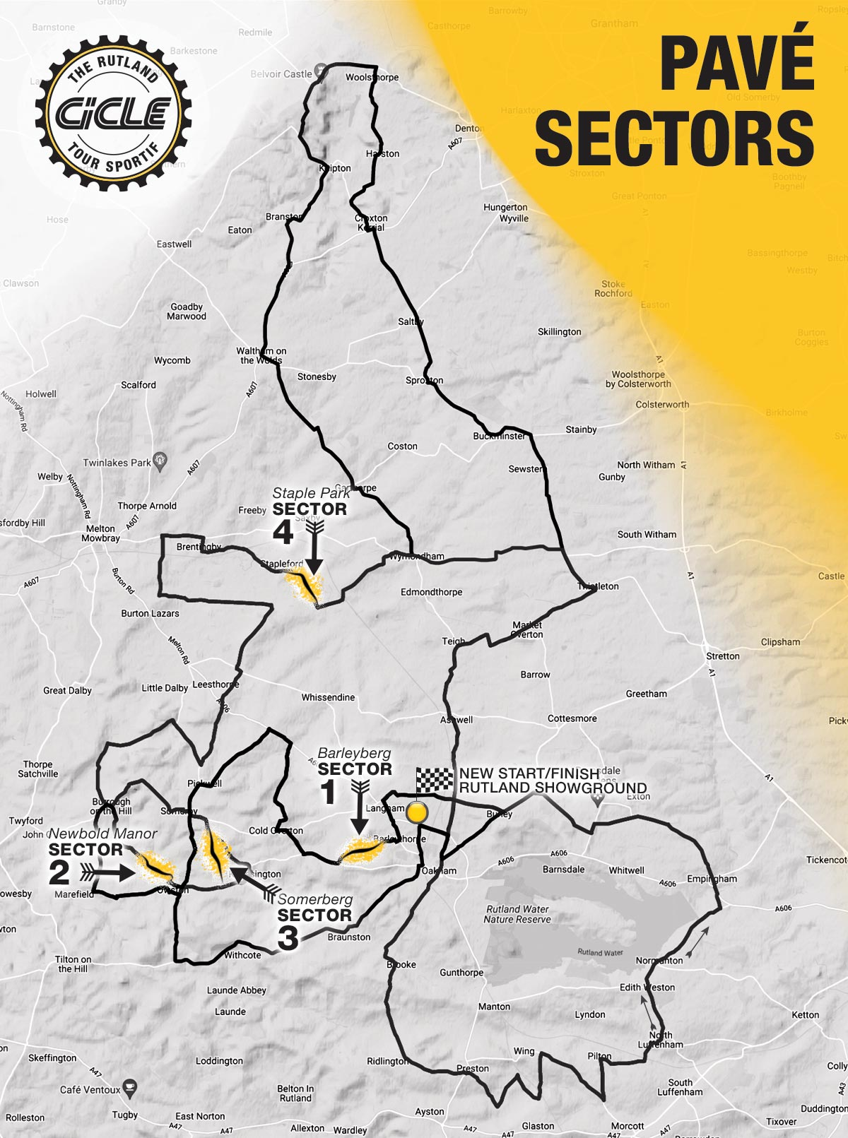 Cicle Tour Sportive pave sector map